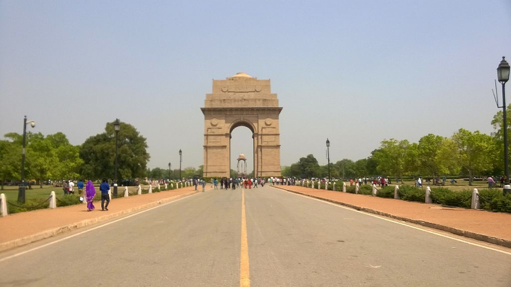 India Gate from Rajpath