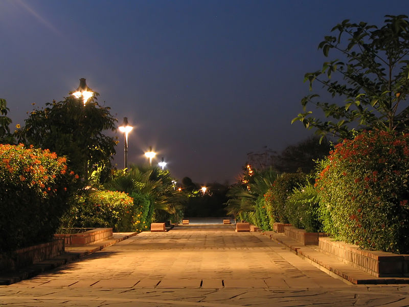 The Garden of Five Senses at night