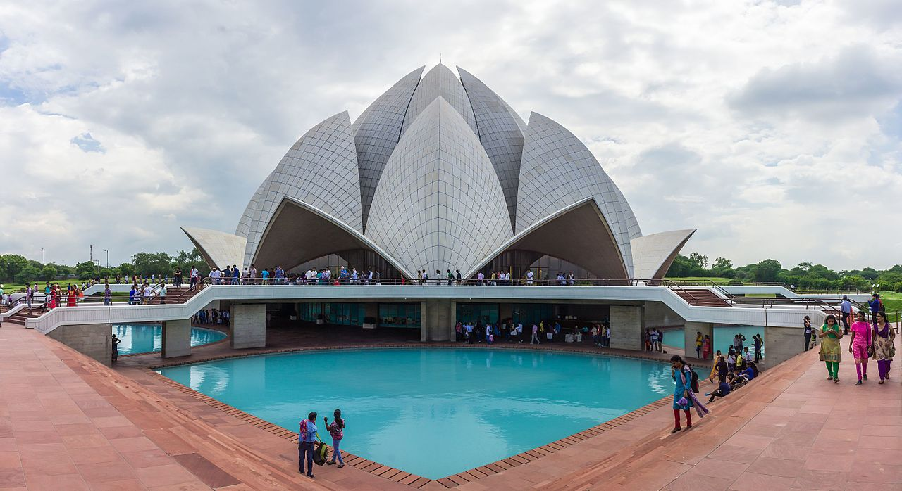 The Lotus Temple, located in New Delhi, India
